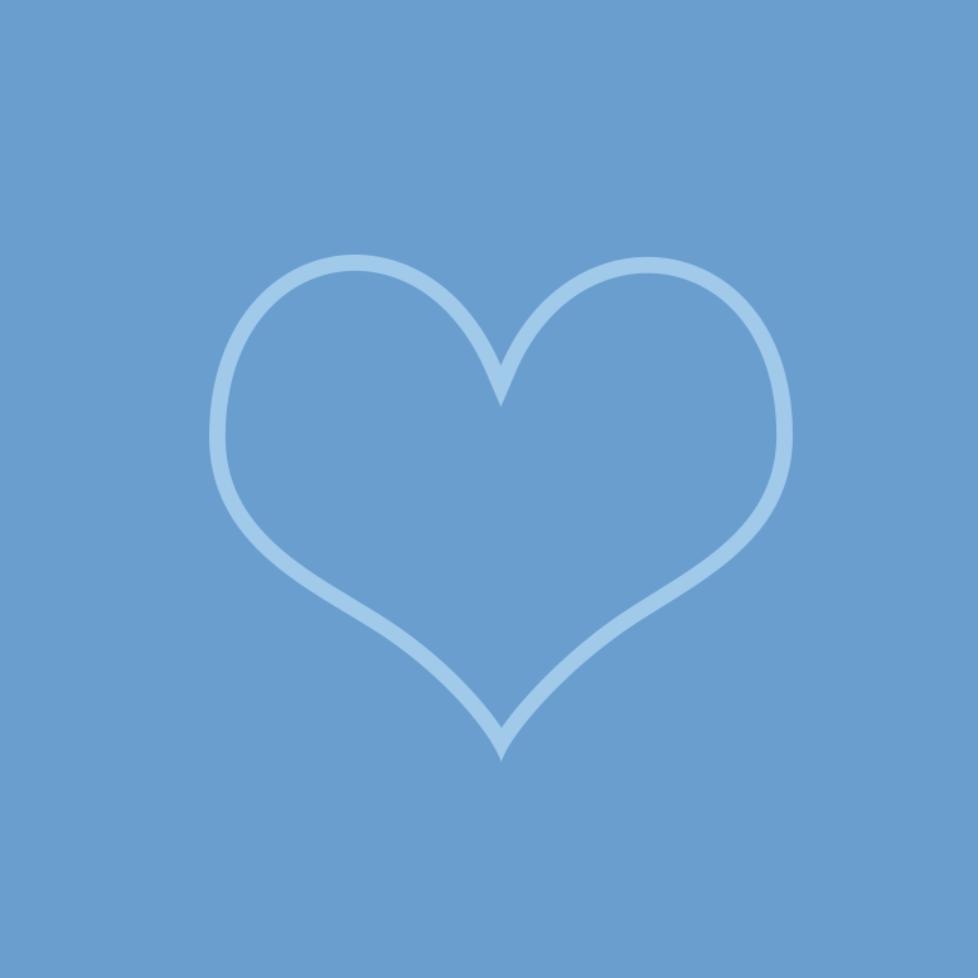 heart alone blue