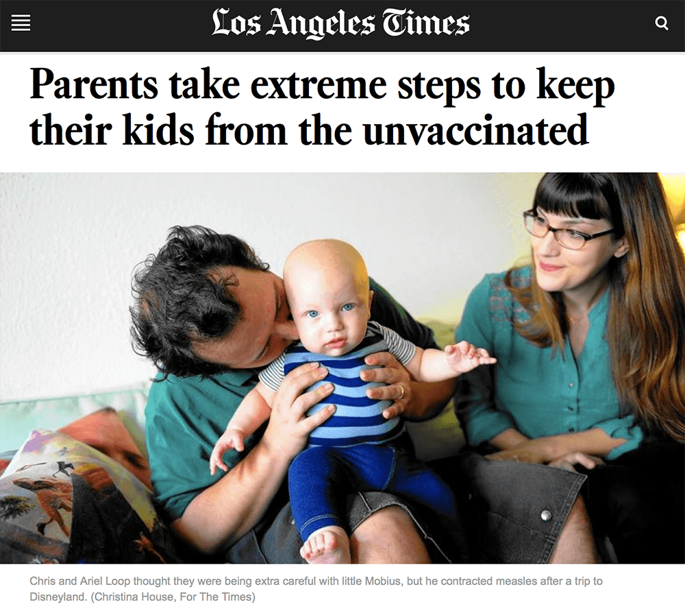Parents take extreme steps to keep their kids from the unvaccinated, 3/9/2015
