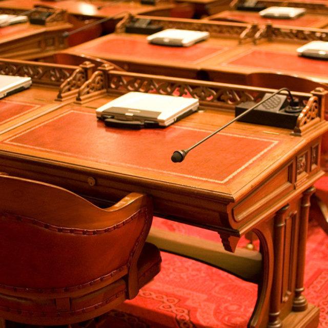 California State Senate Chamber Desks